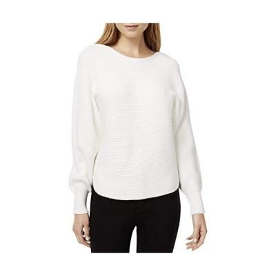 Bar III Womens Ribbed Pullover Sweater, White, XX-Large並行輸入品 送料無料