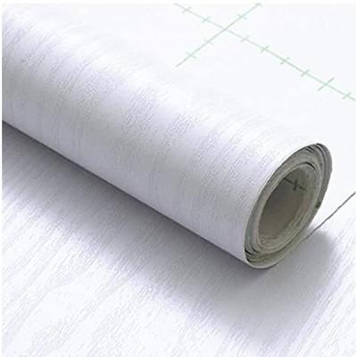 マローサム 貼って剥がせる 壁紙 両面テープ付き カッティング シート ウォール ステッカー 粘着 木目 45cm × 10m(純白)