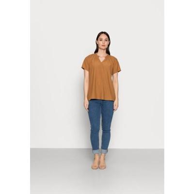 フリークエント レディース ファッション Print T-shirt - toasted coconut
