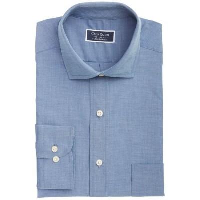 クラブルーム シャツ トップス メンズ Men's Classic/Regular-Fit Performance Stretch Chambray Dress Shirt,  Indigo