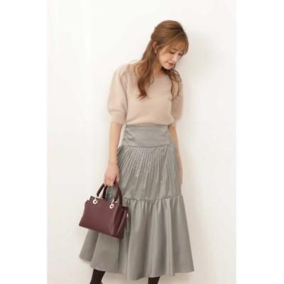 PROPORTION BODY DRESSING/プロポーションボディドレッシング  シャンブレーティアードスカート カーキ S