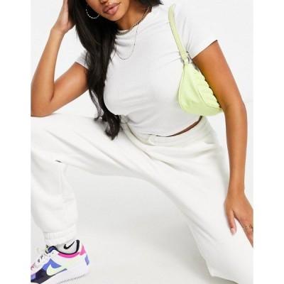 エイソス レディース Tシャツ トップス ASOS DESIGN Hourglass slim fit t-shirt in clean rib in white White