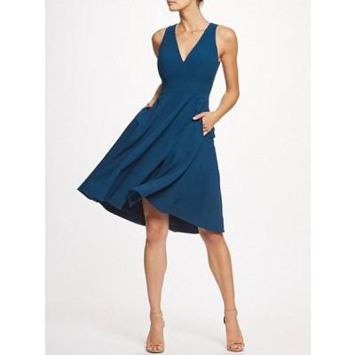 ドレスザポプレーション レディース ワンピース トップス Catalina Crepe V-Neck Sleeveless A-Line Dress