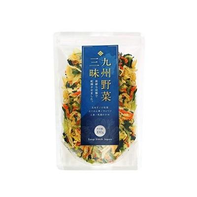 九州野菜三昧 乾燥野菜 国産 無添加 野菜 5種類 わかめ ミックス 100g (1袋)
