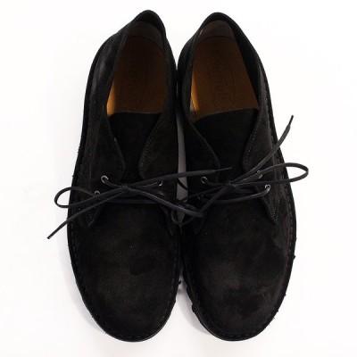 サフォークシューズ Suffolk Shoes Desert Boot(Black Suede : Vibram Ripple)