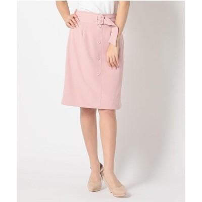 スカート リバーシブルレースタイトスカート