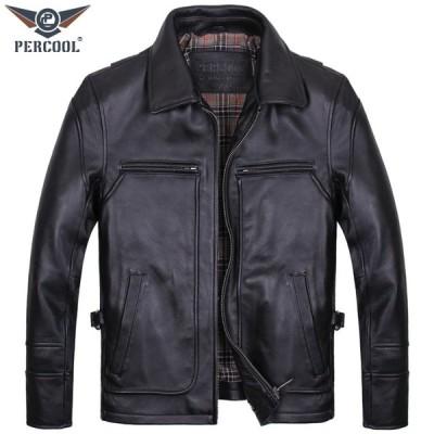 本革ジャケット バイク用レザージャケット メンズ  革ジャン 牛革  バイクジャケット バイクウェア ライダースジャケット