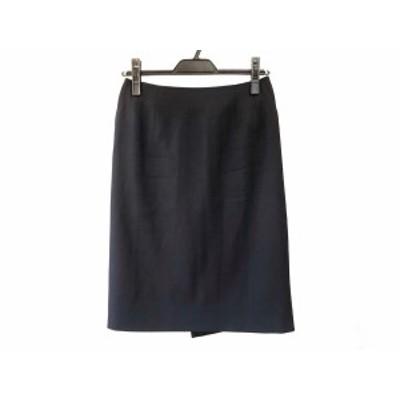 タエアシダ TAE ASHIDA スカート サイズ9 M レディース - 黒 ひざ丈【中古】20201129