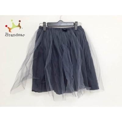 ビリティス Bilitis スカート サイズ36 S レディース ネイビー チュール/リボン/ウエストゴム       スペシャル特価 20200111