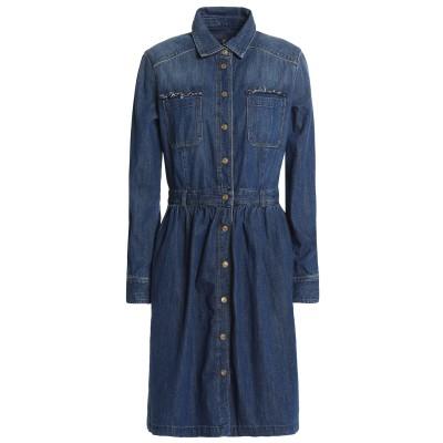 セブン フォー オール マンカインド 7 FOR ALL MANKIND ミニワンピース&ドレス ブルー XS コットン 100% ミニワンピース&