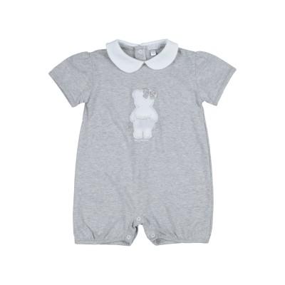NANÁN 乳幼児用ロンパース ライトグレー 9 コットン 100% 乳幼児用ロンパース