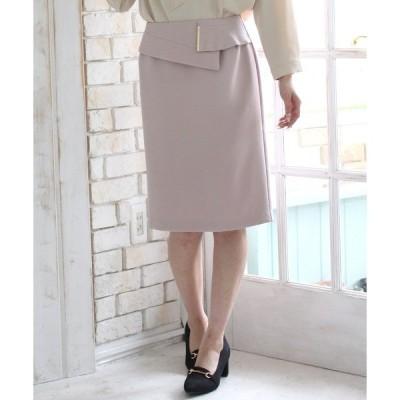 スカート 金具使いタイトスカート