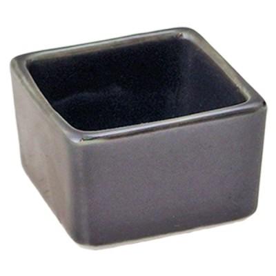 珍味 和食器 / 天目 角形豆小丼 寸法: 4 x 4 x H3cm 40g