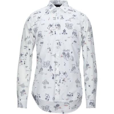 デジグアル DESIGUAL メンズ シャツ トップス patterned shirt White