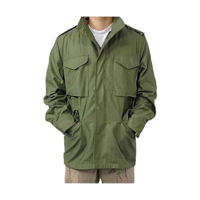 US.M65.OD.コットンフィールドジャケット(A5N?S)階級章ワッペン付