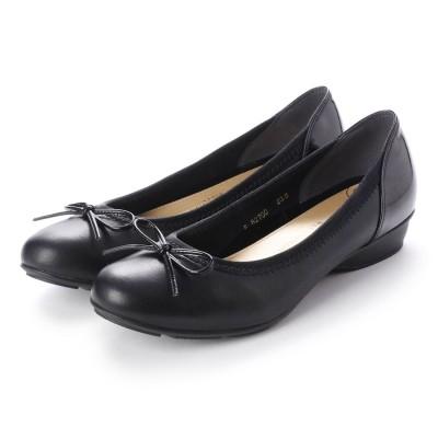 ワシントンフットハッピー WASHINGTON Foot Happy 344-F82700/5 晴雨兼用バレエシューズ (ブラック)