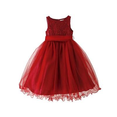 【CatherineCottage】チュールベルト付きドレス