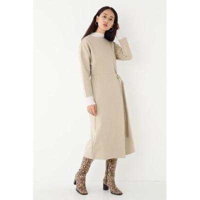 【シェルターセレクト】 ベルトワンピース(Belted Dress)/ドレス レディース ベージュ FREE SHEL'TTER SELECT