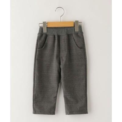 【シップスキッズ】SHIPS KIDS:グレンチェック 7分丈 パンツ(100〜130cm)