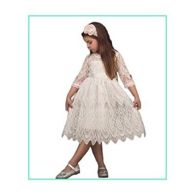 Toddler Girls Princess Dress Fancy Tulle Tutu Dresses Soft Lace Party Skirt White並行輸入品