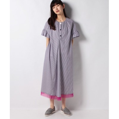 (SHIPS WOMEN/シップス ウィメン)TARO HORIUCHI:PINTUCK SLEEVE D/レディース ブルー