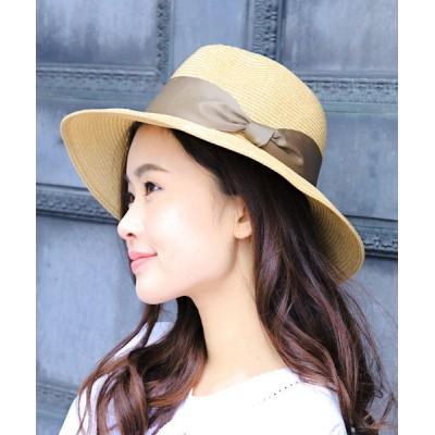 14+(ICHIYON PLUS) / ポリジュートリボン帯ハット WOMEN 帽子 > ハット