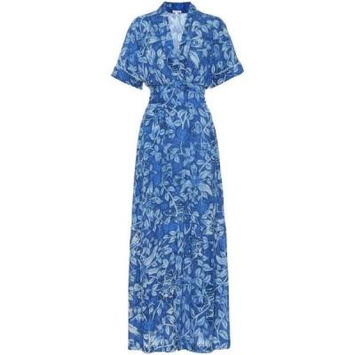 プーペット セント バース Poupette St Barth レディース ワンピース マキシ丈 ワンピース・ドレス Rachel floral maxi dress Blue Tropical