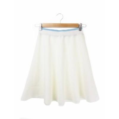 【中古】ラブレス LOVELESS スカート ニット フレア ミニ 34 白 ホワイト /CK19 ☆ レディース