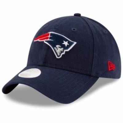 New Era ニュー エラ スポーツ用品  New Era New England Patriots Womens Navy Core Classic Primary 9TWENTY Adjustable Hat