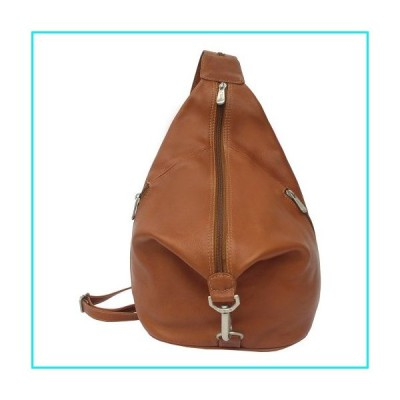 Piel Leather Three-Zip Hobo Sling, Saddle, One Size【並行輸入品】
