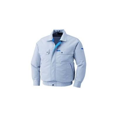 空調服 KU90450-C06-S4 綿 ポリ混紡脇下マチ付き空調服 ウェアのみ シルバー LLサイズ