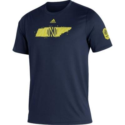 アディダス adidas メンズ Tシャツ トップス Nashville SC Navy Kickoff Creator Performance T-Shirt