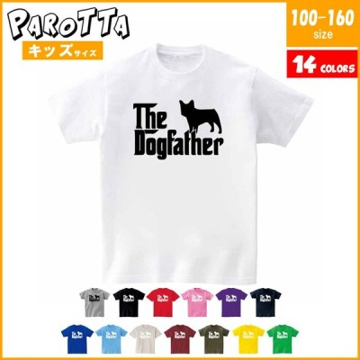 キッズ PAROTTA パロッタ The Dog Father ドッグファーザー パロディ The God Father ゴッドファーザー 100-160サイズ 14色 半袖Tシャツ