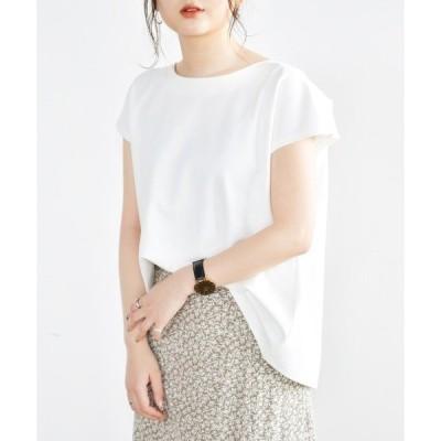tシャツ Tシャツ バックジップTシャツ/フレンチスリーブカットソー/【WEB/EC限定商品】