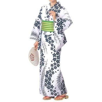 お仕立上り浴衣(女性用) 桜・柳