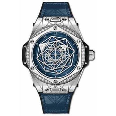 Hublot 限定版 サンブルー ワンクリック スチール ブルーダイヤモンド 腕時計 465SS7179VR1204MX