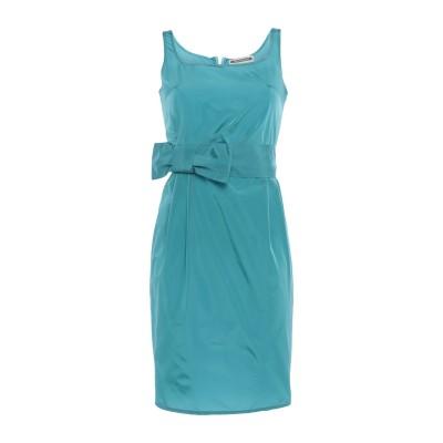 BIANCOGHIACCIO ミニワンピース&ドレス アジュールブルー 40 アセテート 72% / ポリエステル 28% ミニワンピース&ドレス