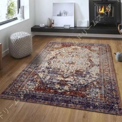 カーペット ペルシャ絨毯 レトロ ラグ 洗える 花柄 おしゃれ オールシーズン適用 床暖房対応 掃除易い 大きい モダン カラー 高級感 滑り止め ティーテーブル