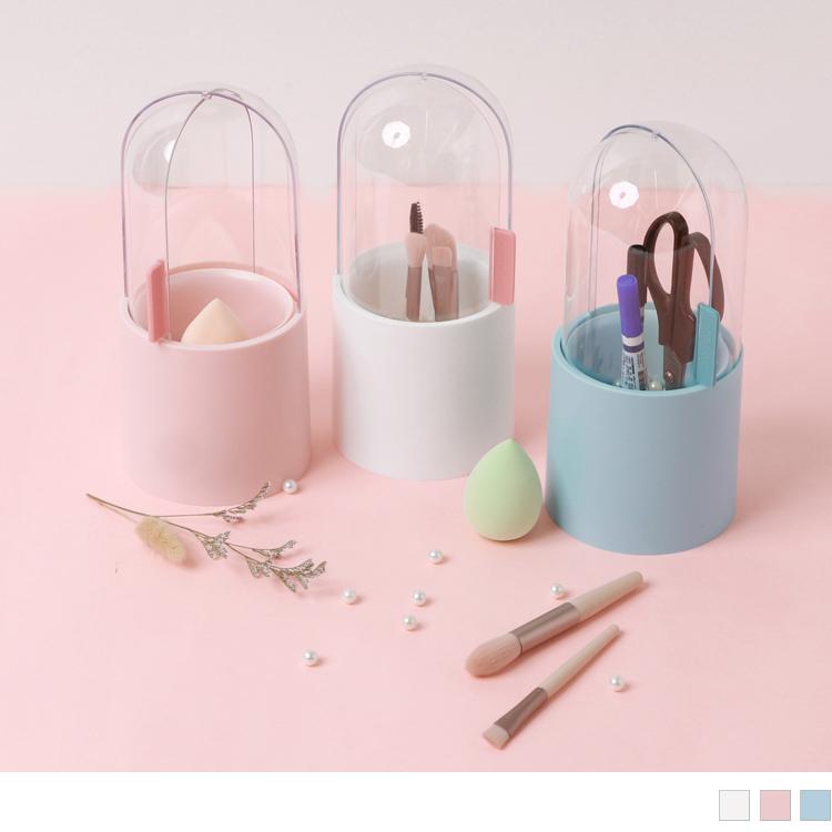 美妝工具防塵收納桶