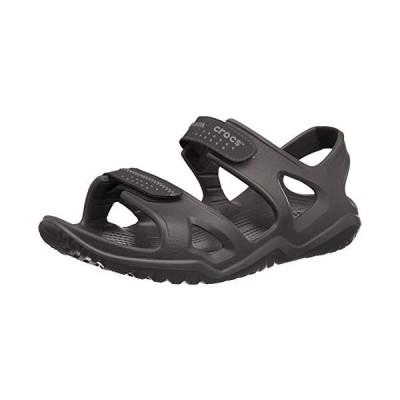 crocs クロックス サンダル Men's Swiftwater River Sandal スウィフトウォーター リバー サンダル メンズ Black/Black 28.0cm