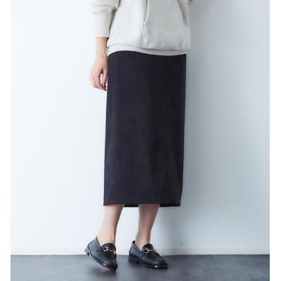 【ルージュ・ヴィフ ラクレ/Rouge vif la cle】 スエードタイトスカート