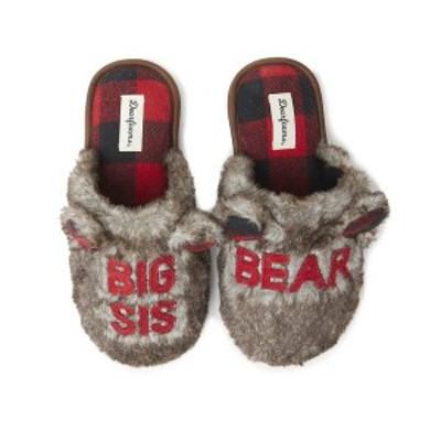 ディアフォームズ レディース サンダル シューズ Women's Furry Auntie Bear Scuff Matching Family Slippers Brown