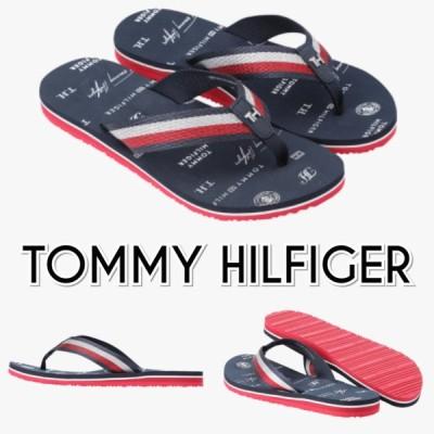TOMMY HILFIGER トミーヒルフィガー ロゴ ビーチサンダル 紺 レディース
