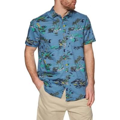 オニール O'Neill メンズ 半袖シャツ トップス lm tropical short sleeve shirt Blue Yellow Orange