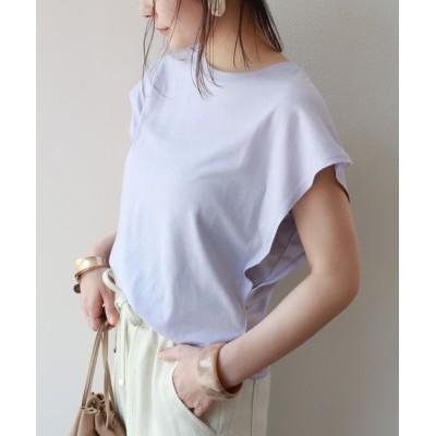 and Me(アンドミー) / フレンチスリーブ脇見え防止デザインTシャツ WOMEN トップス > Tシャツ/カットソー