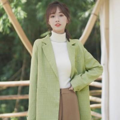 テーラードジャケット アウター ミディアム丈 防寒 あったか 大人可愛い ガーリー カジュアル 韓国ファッション トレンド レディース き