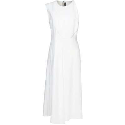 ローラン ムレ ROLAND MOURET ロングワンピース&ドレス ホワイト 12 レーヨン 50% / アセテート 47% / ポリウレタン 3