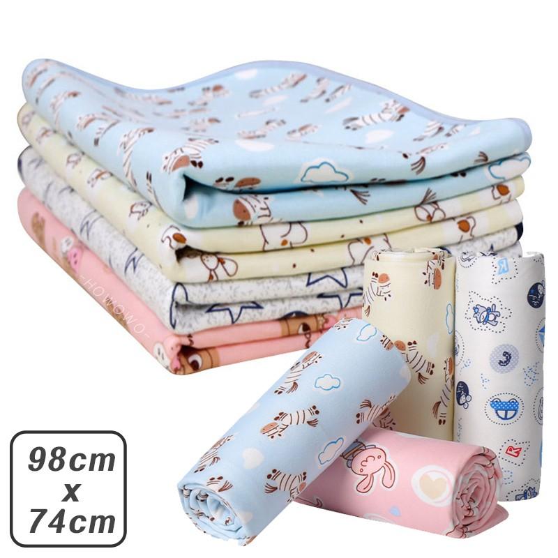 嬰兒尿墊 棉質柔軟 防水尿墊 98x74cm 防水墊 尿布墊 看護墊 生理墊 隔尿墊 ABY5018 寵物墊 嬰兒床墊