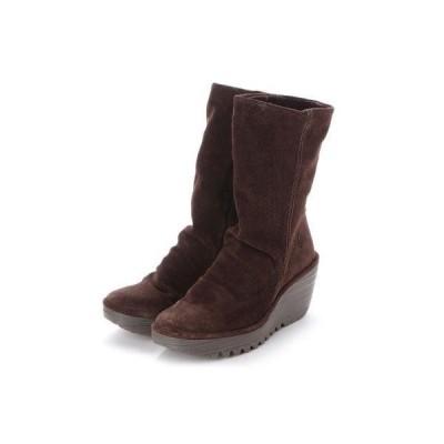 ヨーロッパコンフォートシューズ EU Comfort Shoes FLYLONDON ミドルブーツ(500.504) (ブラウン)