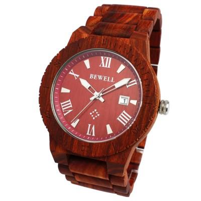 スマイルプロジェクト SMILE PROJECT 日本製シチズンMIYOTAムーブメント 天然素材の木製腕時計 ウッドウォッチ 日付カレンダー WDW017-03 (03)